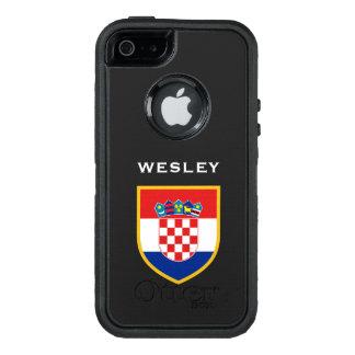 Kroatien-Flagge besonders angefertigt OtterBox iPhone 5/5s/SE Hülle