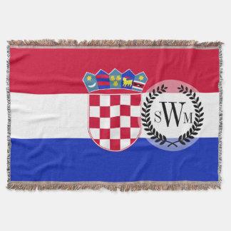 Kroatien-Flagge Decke