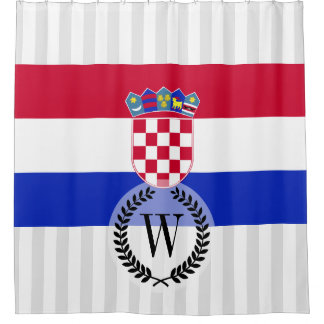 Kroatien-Flagge Duschvorhang
