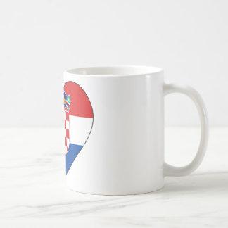 Kroatien-Flagge einfach Kaffeetasse