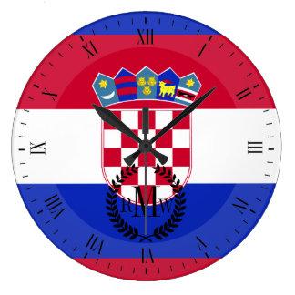 Kroatien-Flagge Große Wanduhr