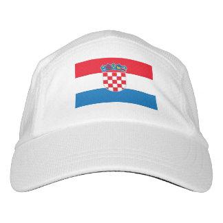 Kroatien-Flagge Headsweats Kappe