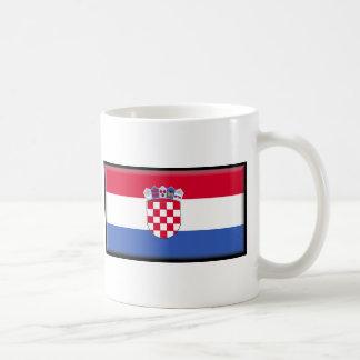 Kroatien-Flagge Kaffeetasse