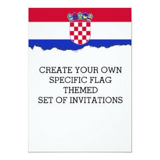 Kroatien-Flagge Karte