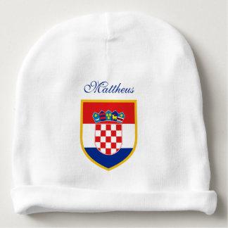 Kroatien-Flagge personalisiert Babymütze