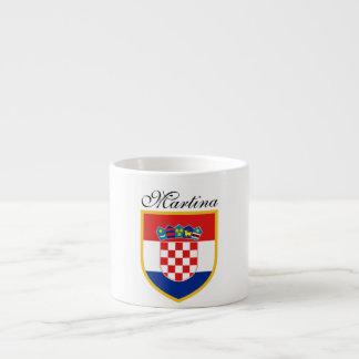 Kroatien-Flagge personalisiert Espressotasse