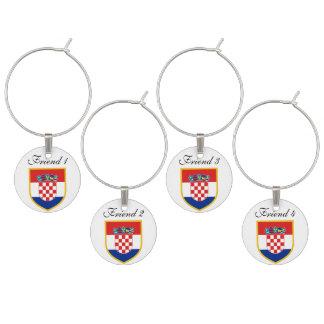 Kroatien-Flagge personalisiert Glasmarker