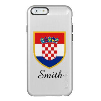 Kroatien-Flagge personalisiert Incipio Feather® Shine iPhone 6 Hülle