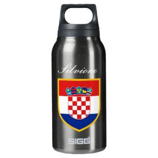 Kroatien-Flagge personalisiert Isolierte Flasche