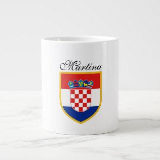 Kroatien-Flagge personalisiert Jumbo-Tasse