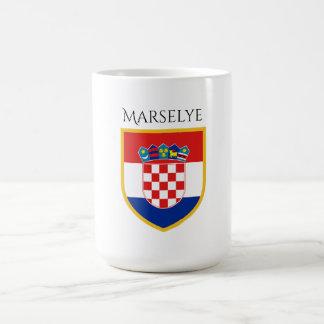 Kroatien-Flagge personalisiert Kaffeetasse