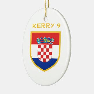 Kroatien-Flagge personalisiert Keramik Ornament