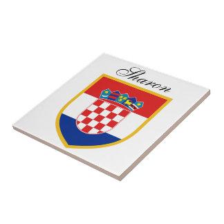 Kroatien-Flagge personalisiert Keramikfliese