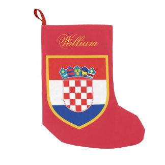 Kroatien-Flagge personalisiert Kleiner Weihnachtsstrumpf