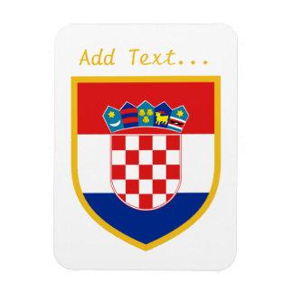 Kroatien-Flagge personalisiert Magnet