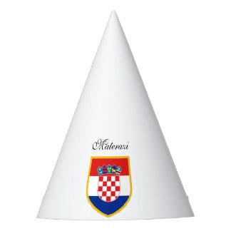 Kroatien-Flagge personalisiert Partyhütchen