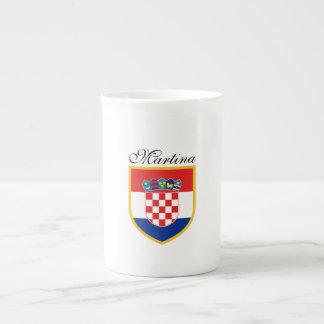Kroatien-Flagge personalisiert Porzellantasse