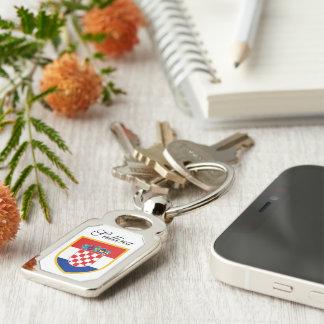Kroatien-Flagge personalisiert Schlüsselanhänger