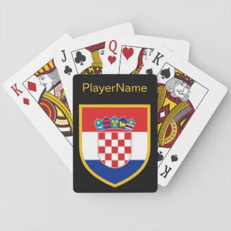 Kroatien-Flagge personalisiert Spielkarten