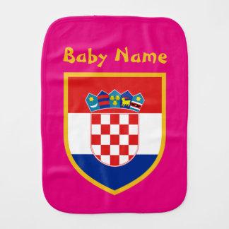 Kroatien-Flagge personalisiert Spucktuch