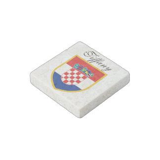 Kroatien-Flagge personalisiert Steinmagnet
