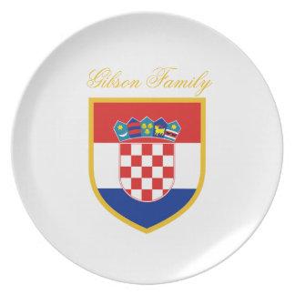 Kroatien-Flagge personalisiert Teller