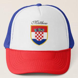 Kroatien-Flagge personalisiert Truckerkappe