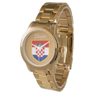 Kroatien-Flagge personalisiert Uhr