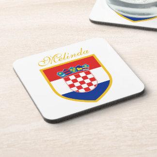 Kroatien-Flagge personalisiert Untersetzer