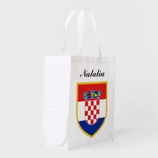 Kroatien-Flagge personalisiert Wiederverwendbare Einkaufstasche