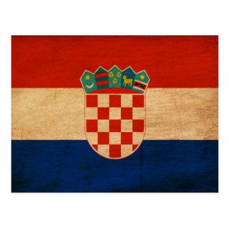Kroatien-Flagge Postkarte