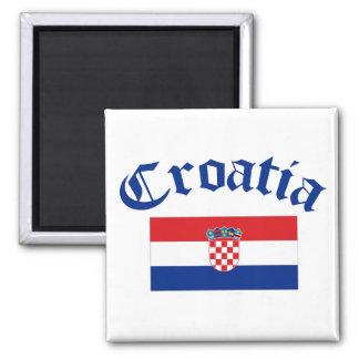 Kroatien-Flagge Quadratischer Magnet