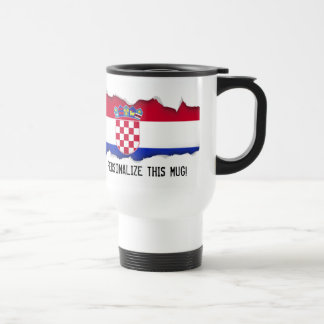 Kroatien-Flagge Reisebecher
