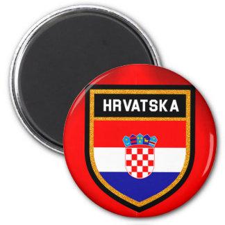 Kroatien-Flagge Runder Magnet 5,1 Cm