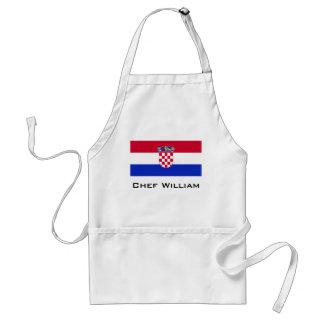 Kroatien-Flagge Schürze