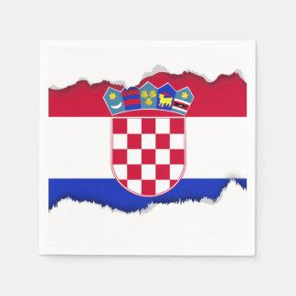 Kroatien-Flagge Serviette