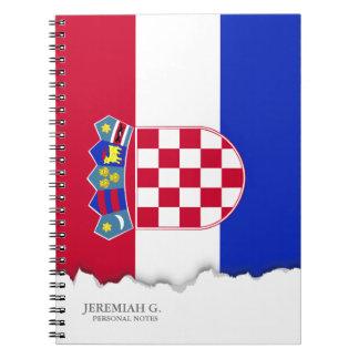 Kroatien-Flagge Spiral Notizblock