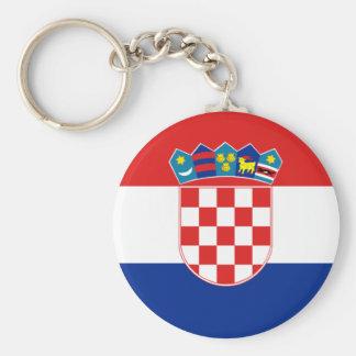 Kroatien-Flagge Stunde Hrvatska Standard Runder Schlüsselanhänger