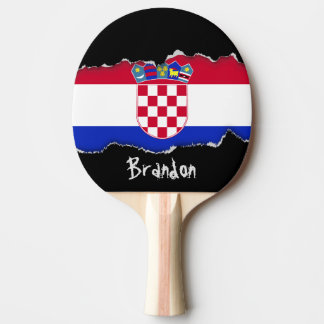 Kroatien-Flagge Tischtennis Schläger