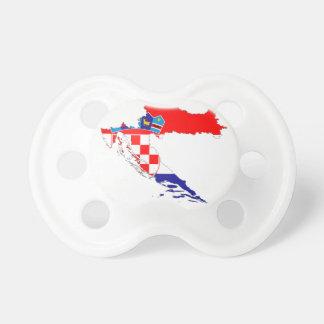 Kroatien-Flaggen-Karte Baby Schnuller