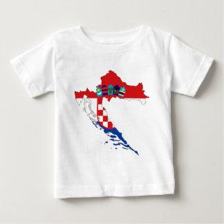 Kroatien-Flaggen-Karte Baby T-shirt