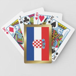 Kroatien-Flaggen-Spielkarten Bicycle Spielkarten