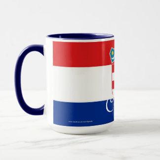 Kroatien-Flaggen-Tasse Tasse