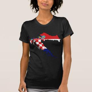 Kroatien-Flaggenkarte Stunde Hrvatska T-Shirt