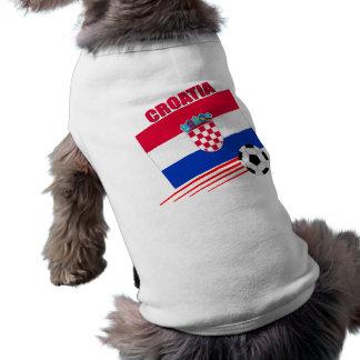 Kroatien-Fußball-Team Ärmelfreies Hunde-Shirt