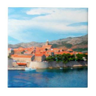 Kroatien-Hafen Fliese