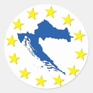 Kroatien in EU Runder Aufkleber