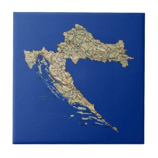Kroatien-Karten-Fliese Keramikfliese