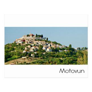 Kroatien - Motovun - adriatisches Meer Postkarte