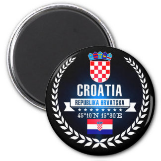 Kroatien Runder Magnet 5,1 Cm